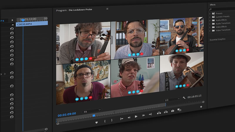 Using a Multiframe 3×2 Layout in Premiere Pro